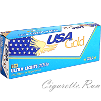 USA Gold Blue Ultra Lights 100's Box