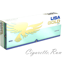 USA Gold Menthol Green 100's Box