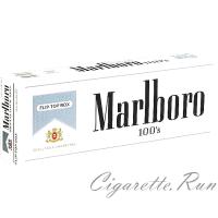 Marlboro 100's Silver Pack Box