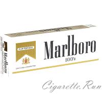 Marlboro 100's Gold Pack Box