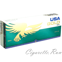 USA Gold Menthol Dark Green 100's Box